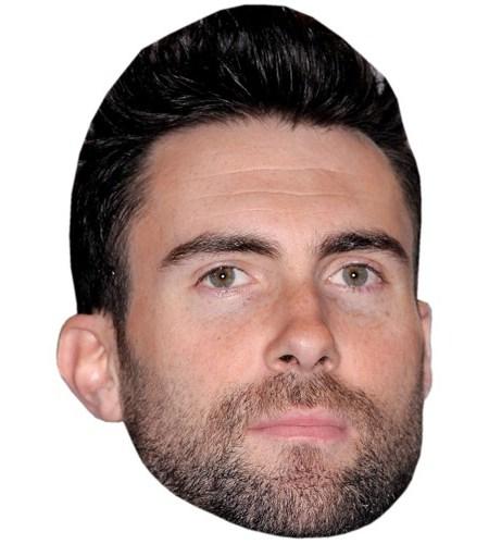 A Cardboard Celebrity Mask of Adam Levine
