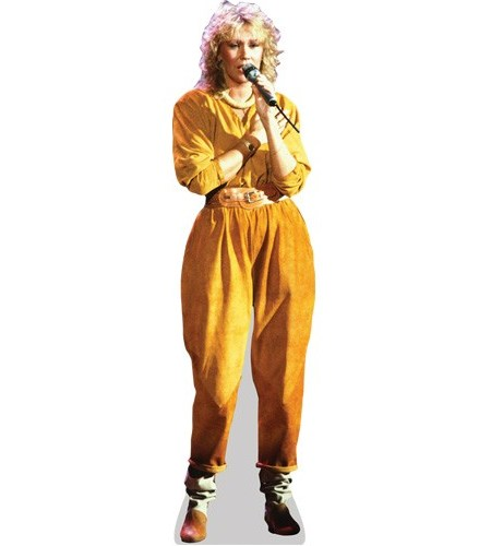 A Lifesize Cardboard Cutout of Agnetha Faltskog wearing a jumpsuit