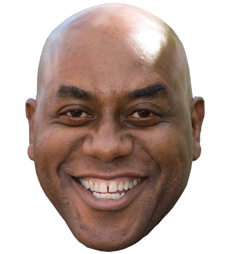 A Cardboard Celebrity Mask of Ainsley Harriott