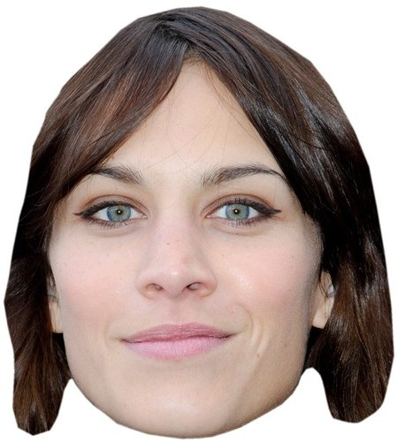 A Cardboard Celebrity Mask of Alexa Chung