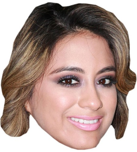 A Cardboard Celebrity Mask of Ally Brooke