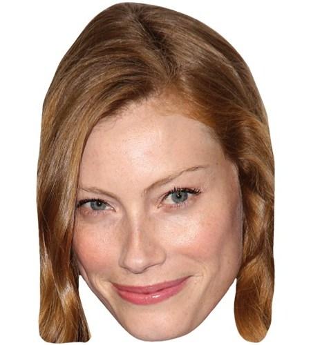 A Cardboard Celebrity Mask of Alyssa Sutherland