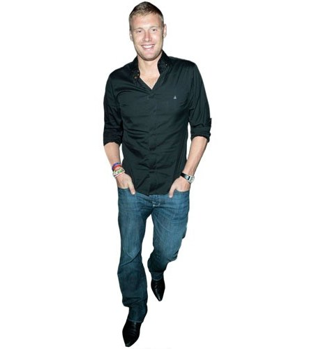 A Lifesize Cardboard Cutout of Andrew Flintoff wearing jeans