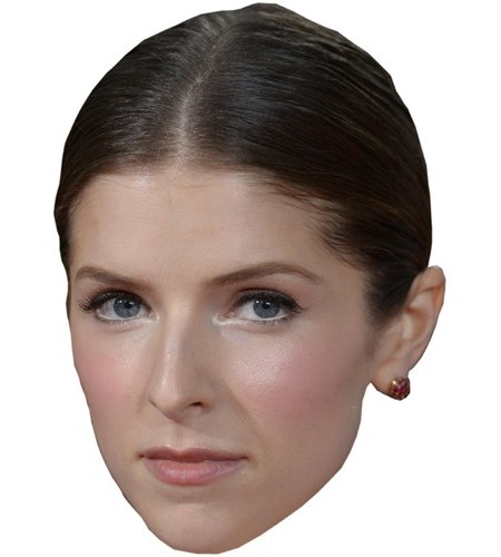 A Cardboard Celebrity Mask of Anna Kendrick