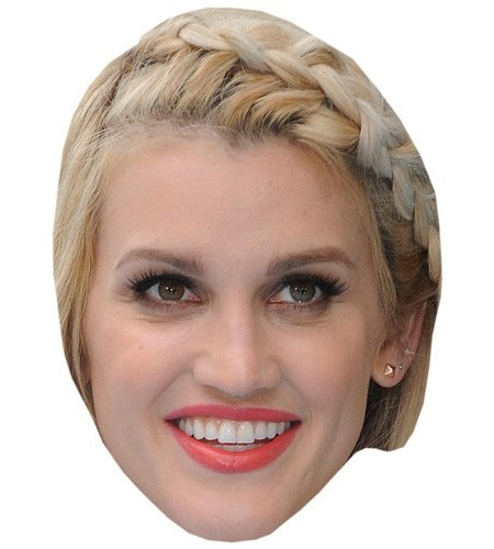 A Cardboard Celebrity Mask of Ashley Roberts