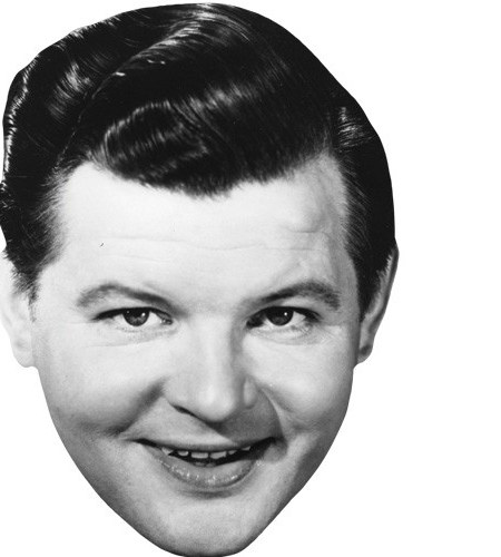 A Cardboard Celebrity Mask of Benny Hill