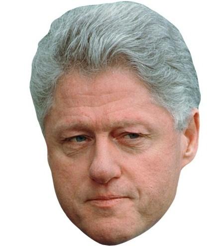 A Cardboard Celebrity Mask of Bill Clinton
