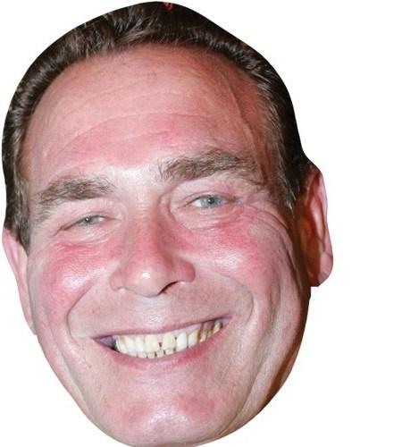 A Cardboard Celebrity Mask of Bobby George