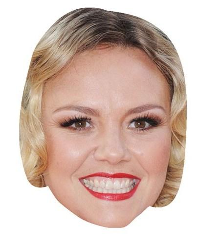 A Cardboard Celebrity Mask of Charlie Brooks