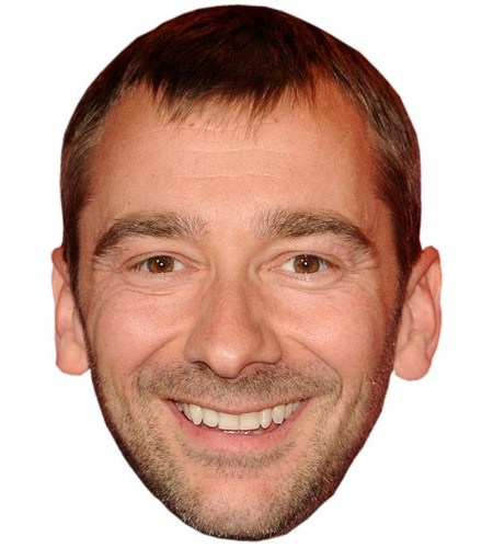 A Cardboard Celebrity Mask of Charlie Condou
