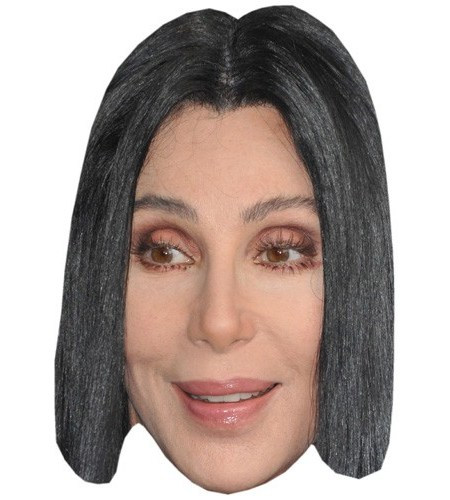 A Cardboard Celebrity Mask of Cher