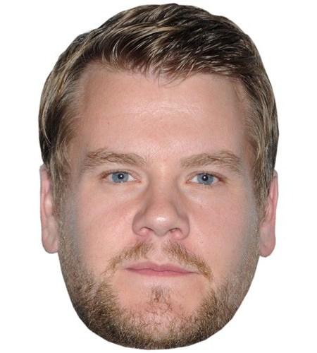 A Cardboard Celebrity Mask of James Corden