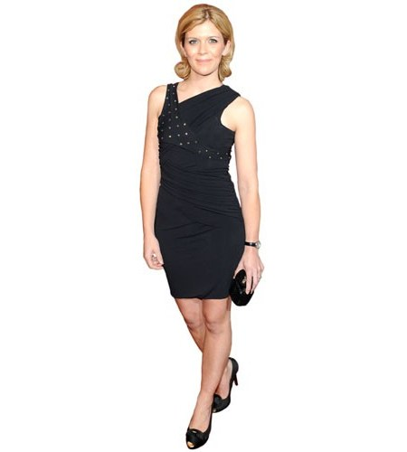 A Lifesize Cardboard Cutout of Jane Danson wearing a short black dress