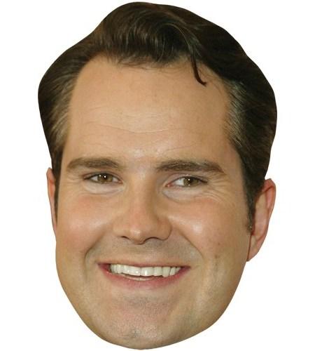 A Cardboard Celebrity Mask of Jimmy Carr
