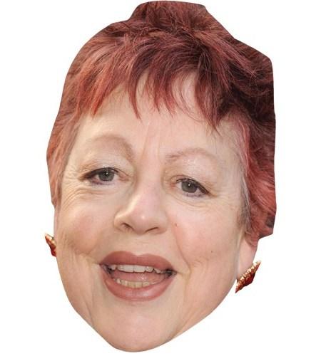 A Cardboard Celebrity Mask of Jo Brand