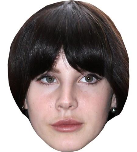 A Cardboard Celebrity Lana Del Rey Mask
