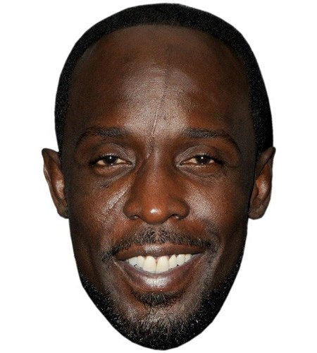 A Cardboard Celebrity Mask of Michael Kenneth Williams