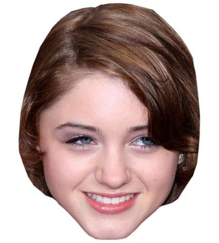 A Cardboard Celebrity Mask of Natalia Dyer