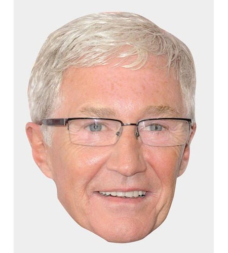 A Cardboard Celebrity Mask of Paul O'Grady