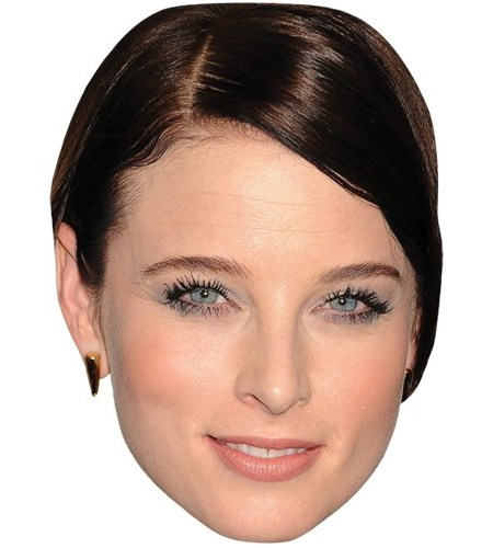 A Cardboard Celebrity Mask of Rachel Nichols