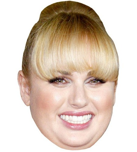 A Cardboard Celebrity Mask of Rebel Wilson
