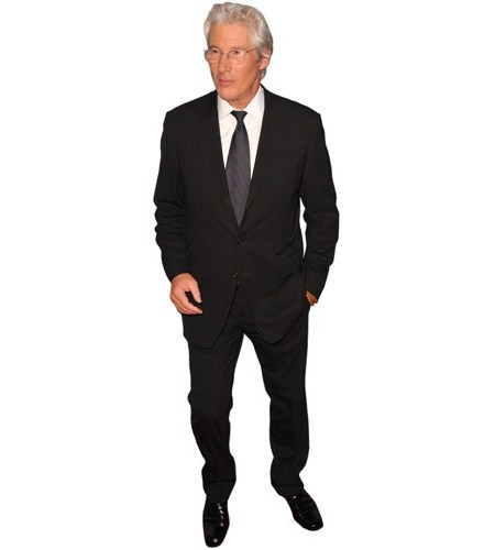 A Lifesize Cardboard Cutout of Richard Gere wearing a suit