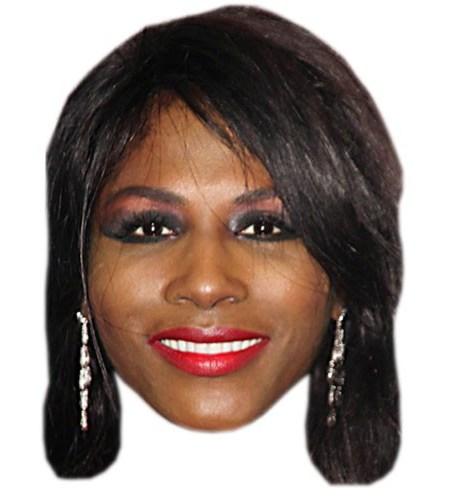 A Cardboard Celebrity Sinitta Mask