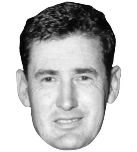 A Cardboard Celebrity Mask of Ted Williams