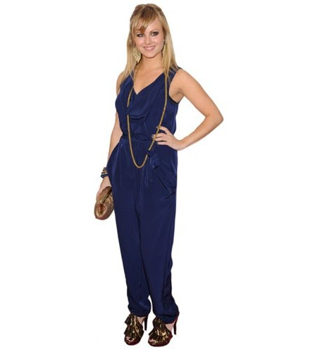 A Lifesize Cardboard Cutout of Tina O'Brien wearing a jumpsuit