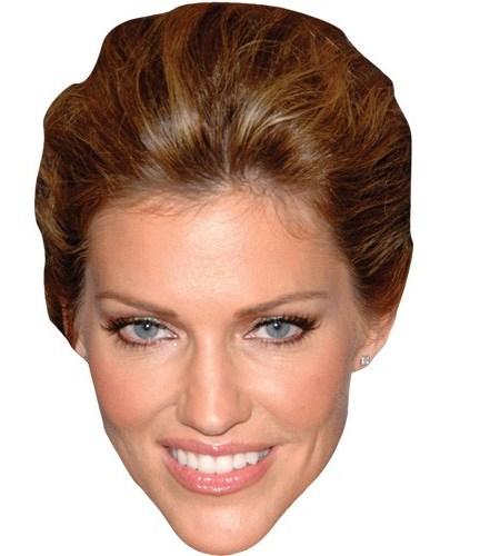 A Cardboard Celebrity Mask of Tricia Helfer