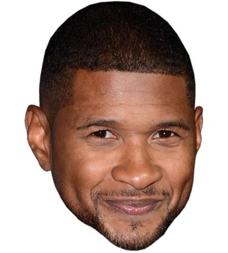A Cardboard Celebrity Mask of Usher