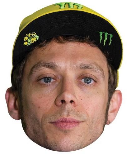 A Cardboard Celebrity Mask of Valentino Rossi