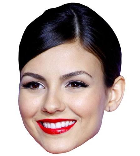 A Cardboard Celebrity Mask of Victoria Justice