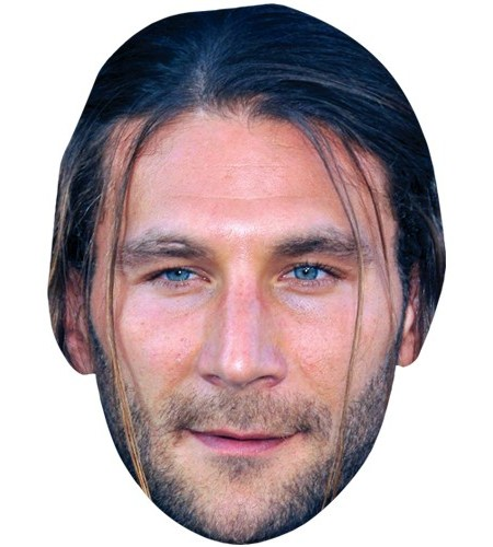 A Cardboard Celebrity Mask of Zach McGowan