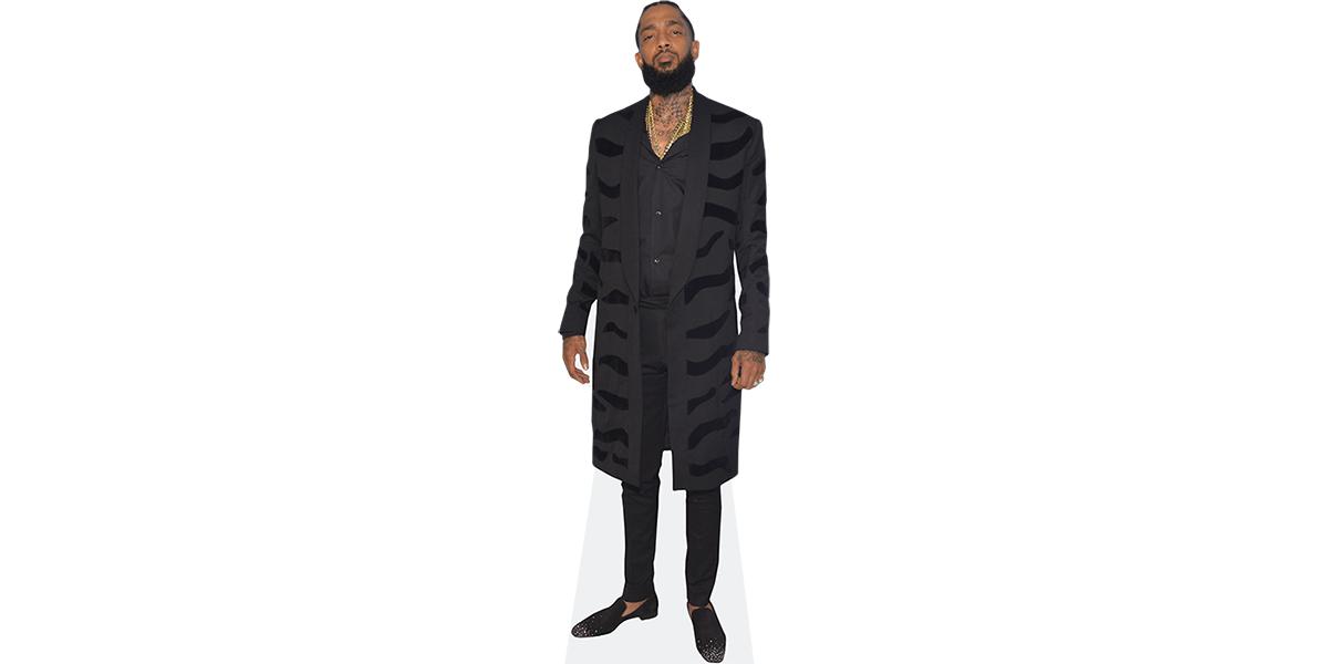 Standee. Cardboard Cutout Long Coat lifesize Nipsey Hussle