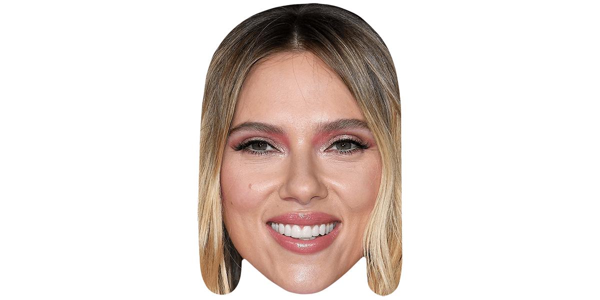 Scarlett Johansson Long Hair Celebrity Mask Celebrity Cutouts