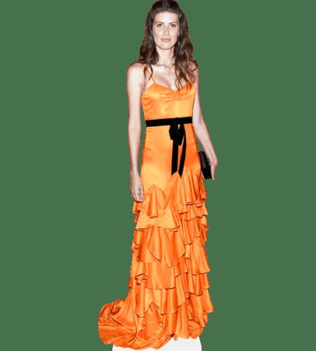 Michelle Alves (Orange Dress)