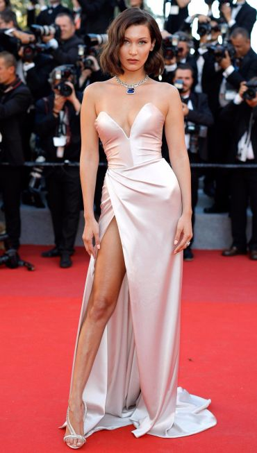 Bella Hadid Upskirt At The Opening Ceremony Of 70th Cannes Film Festival