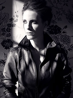 Nicole Richie Winter Kate Harlow Leather Jacket