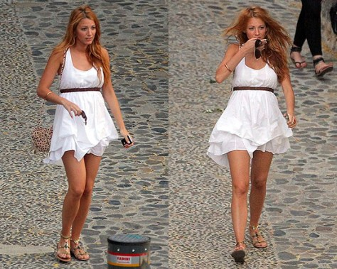 Blake Lively and her cute See by Chloé Cherry Mini Bag