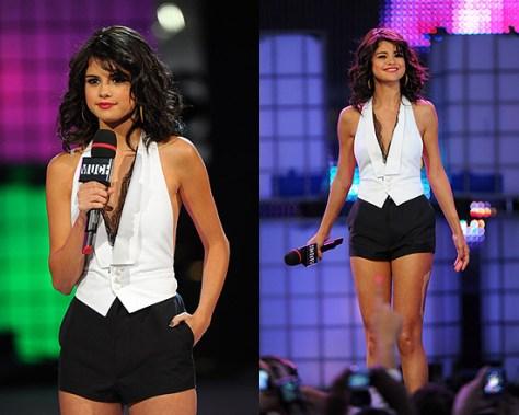 Selena Gomez hosting MuchMusic Video Awards in DSQUARED2 Romper