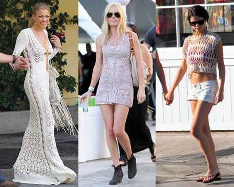 Celebrities wearing crochet