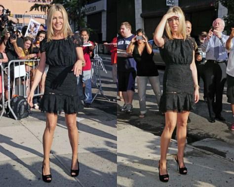 Jennifer Aniston in Nina Ricci dress