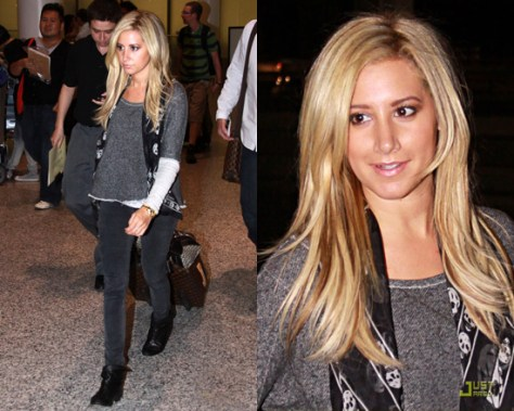 Ashley Tisdale in Generation Love Bobo 2 Tone Combo Sweatshirt