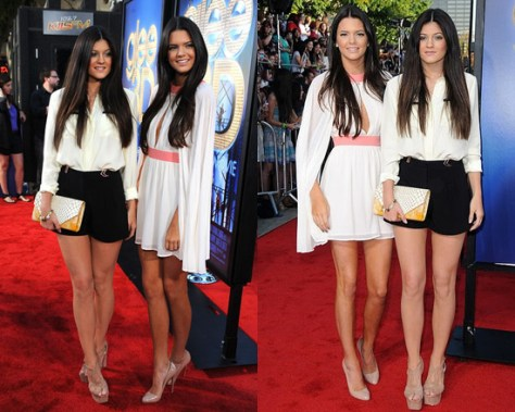 Kendall and Kylie Jenner at Glee 3D Premiere