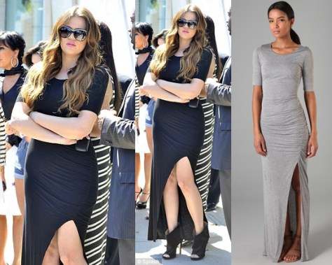 Khloe Kardashian in A.L.C. Theo Long Dress