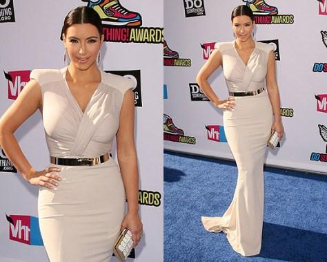 Kim Kardashian in Antonio Berardi dress at 2011 Do Something Awards