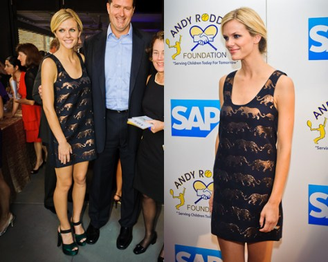 Brooklyn Decker in Marc Jacobs Panthera Lurex Jacquard Dress