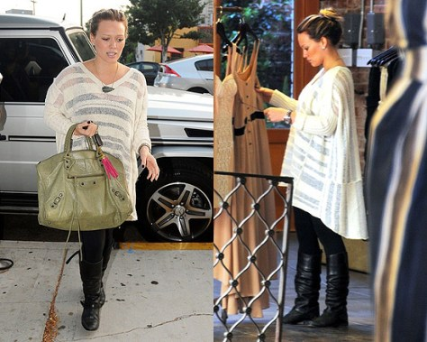 Hilary Duff in Free People Spending Time Sweater