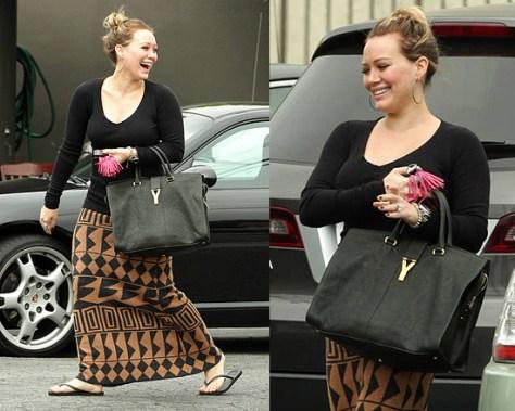 Hilary Duff wearing Funktional Mayan Knit Skirt